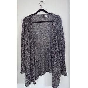 Black and grey peppered cardigan